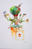 Eternal Tulsi, 2012 I Watercolor I 20x14 inches I Collection - World Bank, Head Quarter, U.S.A