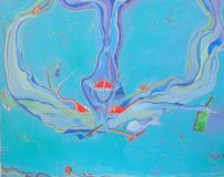 Flow of Endurance 5, 2011, Acrylic on Canevas 48*60 inches