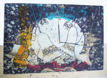 Time, 2006 I Etching Mixed Media Print I 40x55cm I Private Collection in Pakistan and Germany