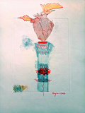 Series - From Heart / Title - Lonely Heart / Year - 2017 / Medium - Mixed Media on Paper / Size - 40x25 cm / Artist Price - 900 Euro