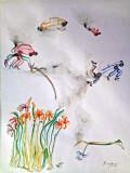 Title - Monet Garden / Year - 2013 / Medium - Water color on Paper / Size - 65x50 cm / Artist Price - 1,200 Euro